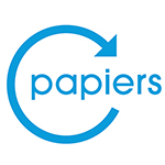 Logo Papier recyclable